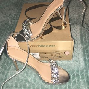 ✰Silver Prom Heels